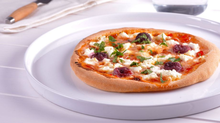 Pizza dulce de natillas