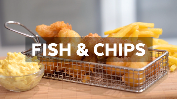 VIDEO - Fish & Chips con mayonesa de mango y curry