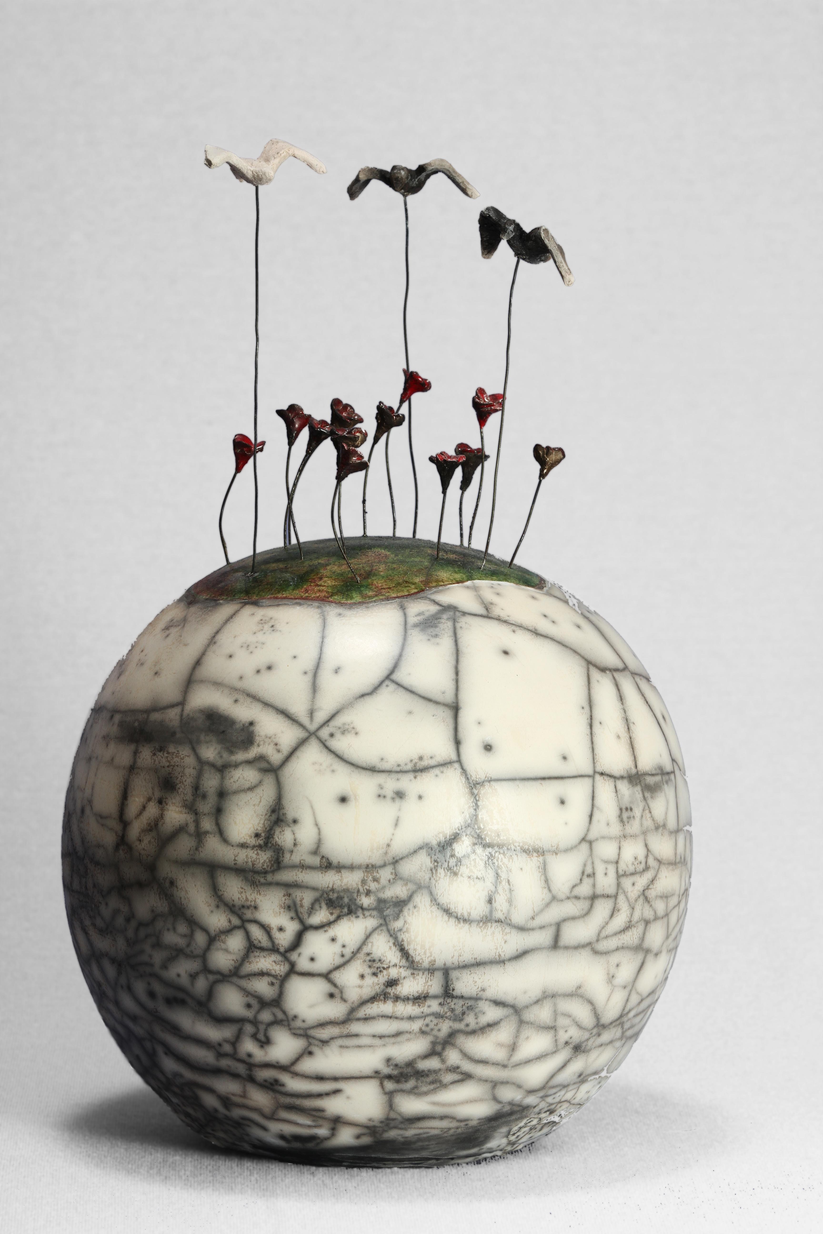 Boule champs de fleurs