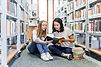 Girls in the Library