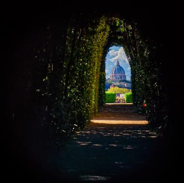 Blick durch das Schlüsselloch von Rom