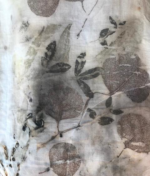 #2-eco-print on cotton