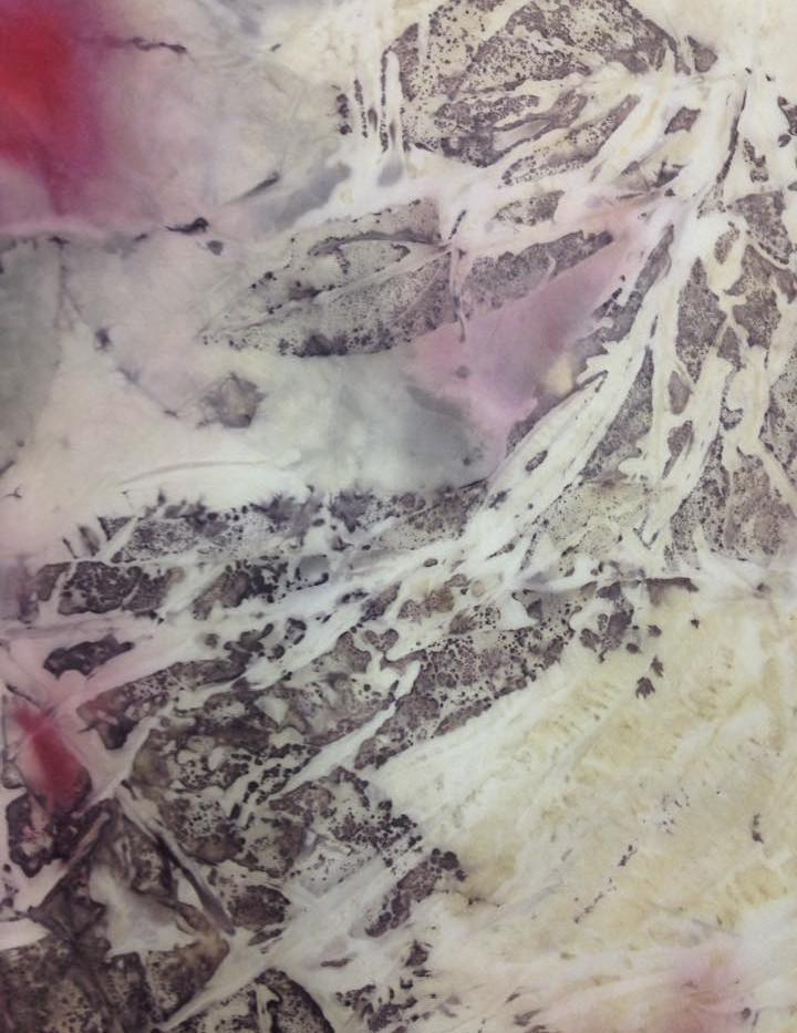#3 eco-print on cotton