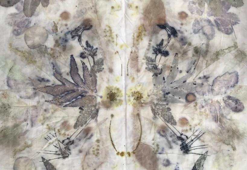 #1 eco-print on cotton