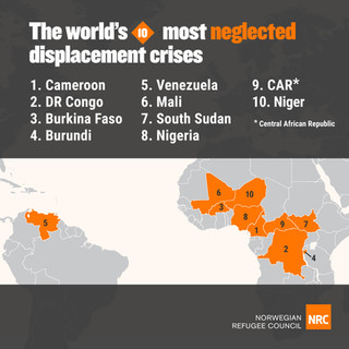Neglected Displacement Crises Map