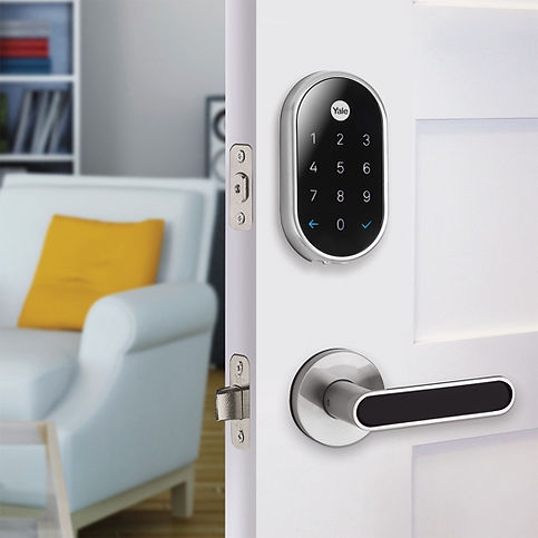 Smart door lock installation