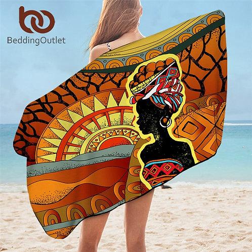 African Beach/Bathroom/Blanket Towel WomanTowel 75x150cm