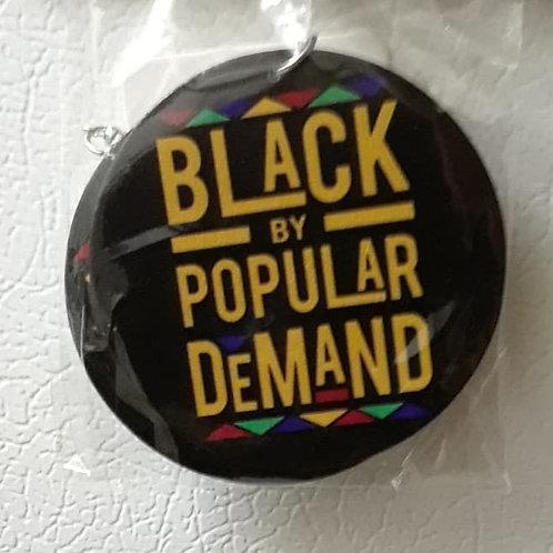 Trendy Women Print 'Black by Popular Demand' Jewelry Natural Wood Drop Earrings