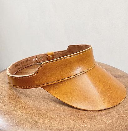 Cognac Huntington Leather Visor