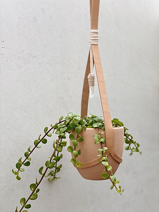 Simple Style Leather Planter