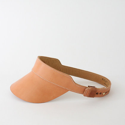 Huntington Visor in Veggie Tan Leather