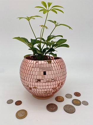 6 in Rose Gold Tabletop Disco Planter