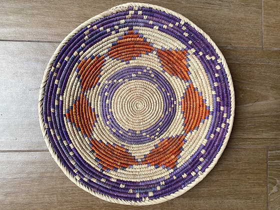 Purple + Rust Orange Basket
