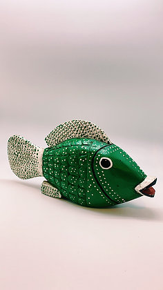 Wood Carved Fish from Burkina Faso