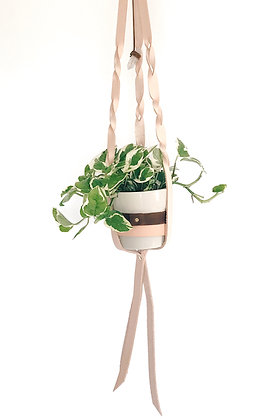 Small Leather Plant Hanger. Style 2