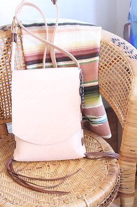 Hand Stitched Veggie Tan Leather Crossbody Bag