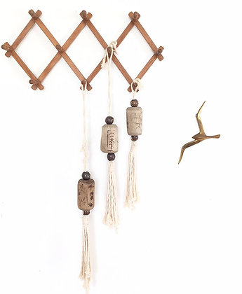 Welcome Door Tassel with Japanese Wood FIshing Float