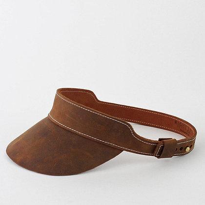 Huntington Visor in Oil Tanned Leather