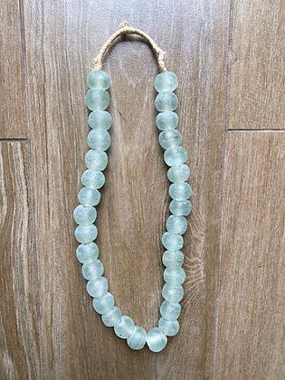 African Recycled Glass Beads- Sea Foam Green