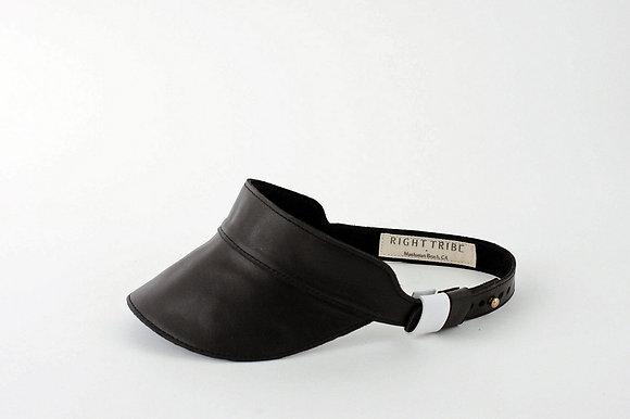 Huntington Visor in Black Leather