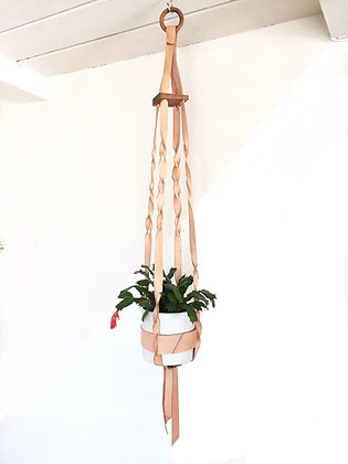 Large Plant Hanger With Triangle Stitching