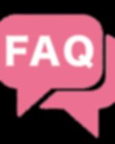 speach bubble with FAQ