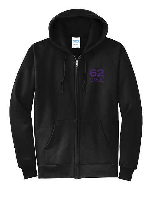 62 Crue Fleece Full-Zip Hooded Sweatshirt