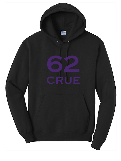 62 Crue Fleece Pullover Hooded Sweatshirt