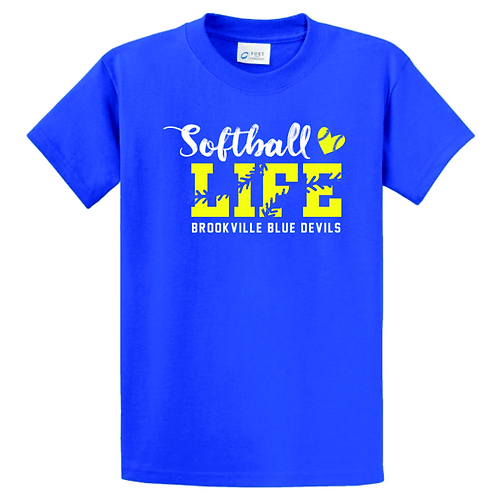 BROOKVILLE SOFTBALL LIFE 50/50 TEE