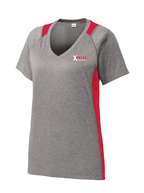 Ladies Colorblock Dri-Fit Performance V-Neck Tee