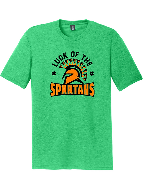 TRI-BLEND SHORT SLEEVE - LUCK OF SPARTANS