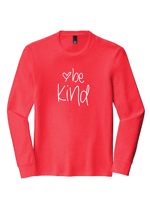 District Triblend Unisex Long Sleeve - BE KIND