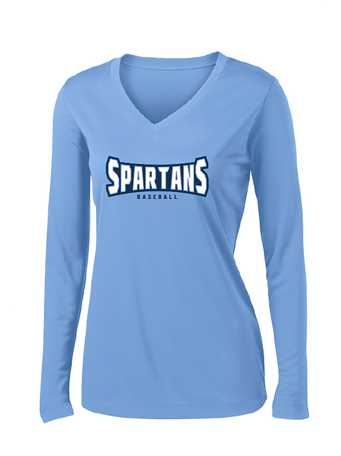 Spartans Ladies Dri-fit Long Sleeve VNeck