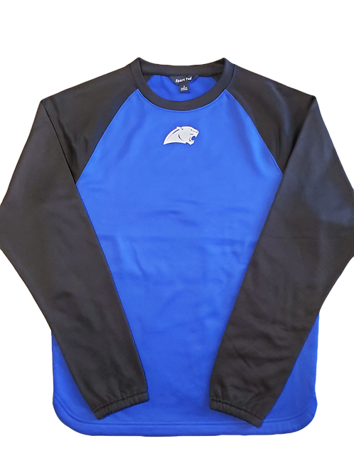 MENS PANTHER BLUE & BLACK FLEECE RAGLAN