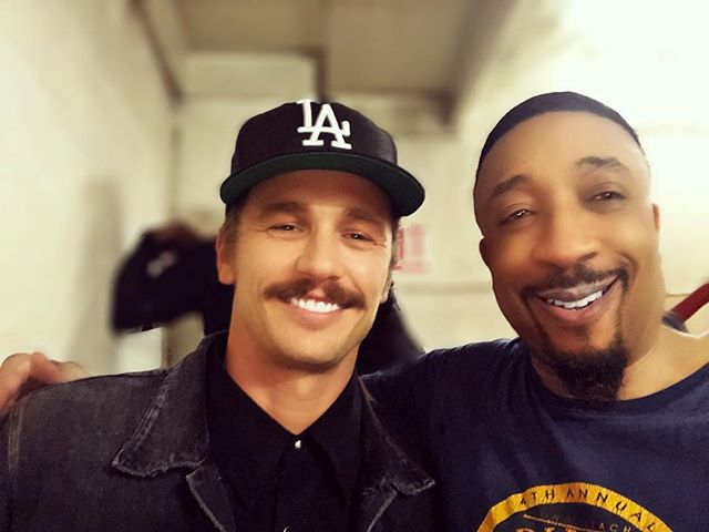 with James Franco