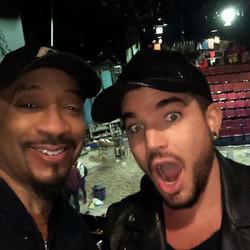 with Adam Lambert
