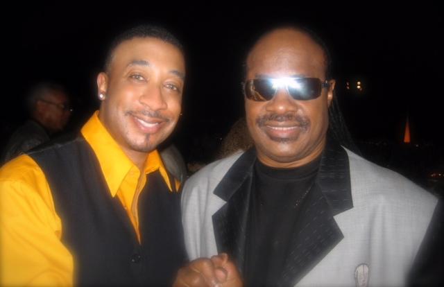 Performing with Stevie Wonder