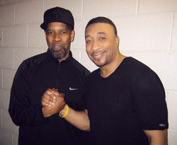 with Denzel Washington