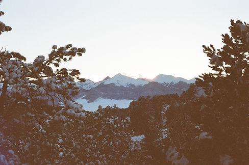 Горы в сумерках