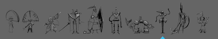 All knight sketches
