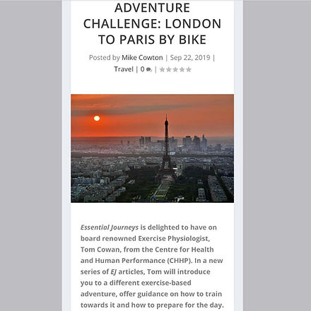 Essential Journeys - London to Paris by bike