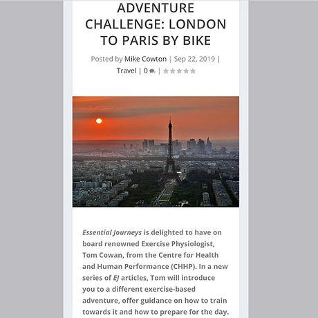Essential Journeys - London to Paris by bike