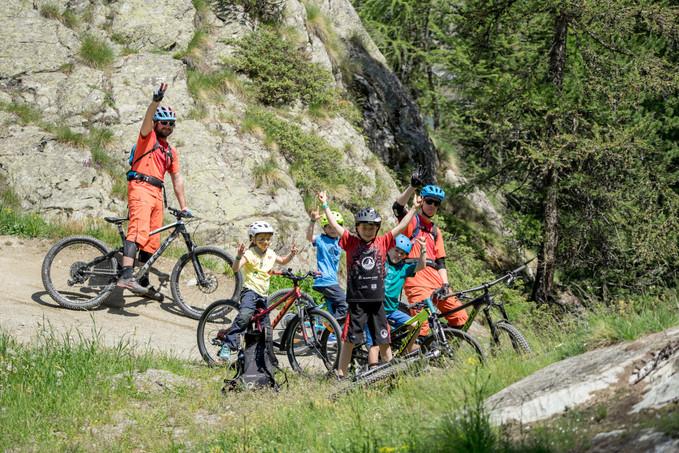 Bikeschool Zermatt Kids group