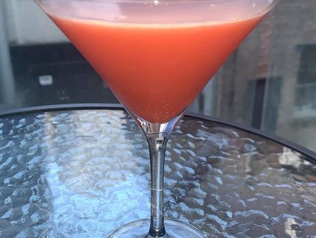 How to Make a Strawberry Martini