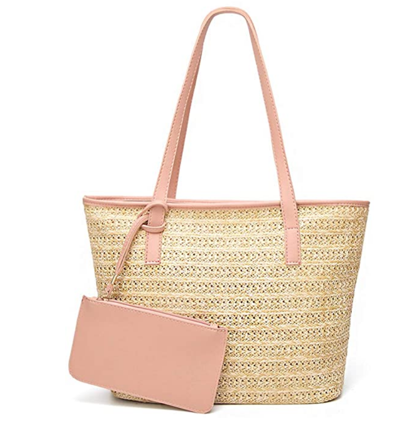 GL-Turelifes Large Straw Bag Beach Handbags High Capacity Summer Shoulder Bags Tassel Totes Top-handle Bag