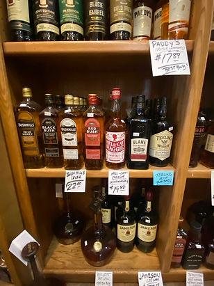 Irish Whiskey at Plaza Liquors