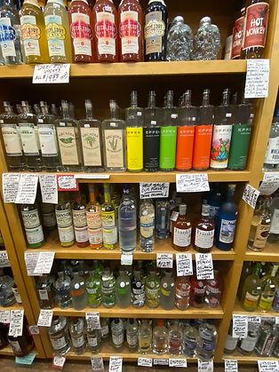 Flavored vodka at Plaza Liquors