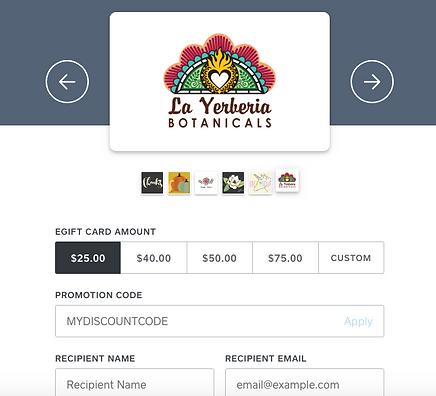 Herbal Gift Certificate