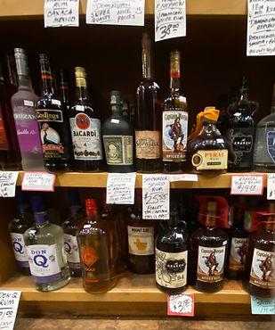 Rum at Plaza Liquors