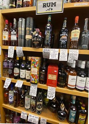 Kraken rum at Plaza Liquors